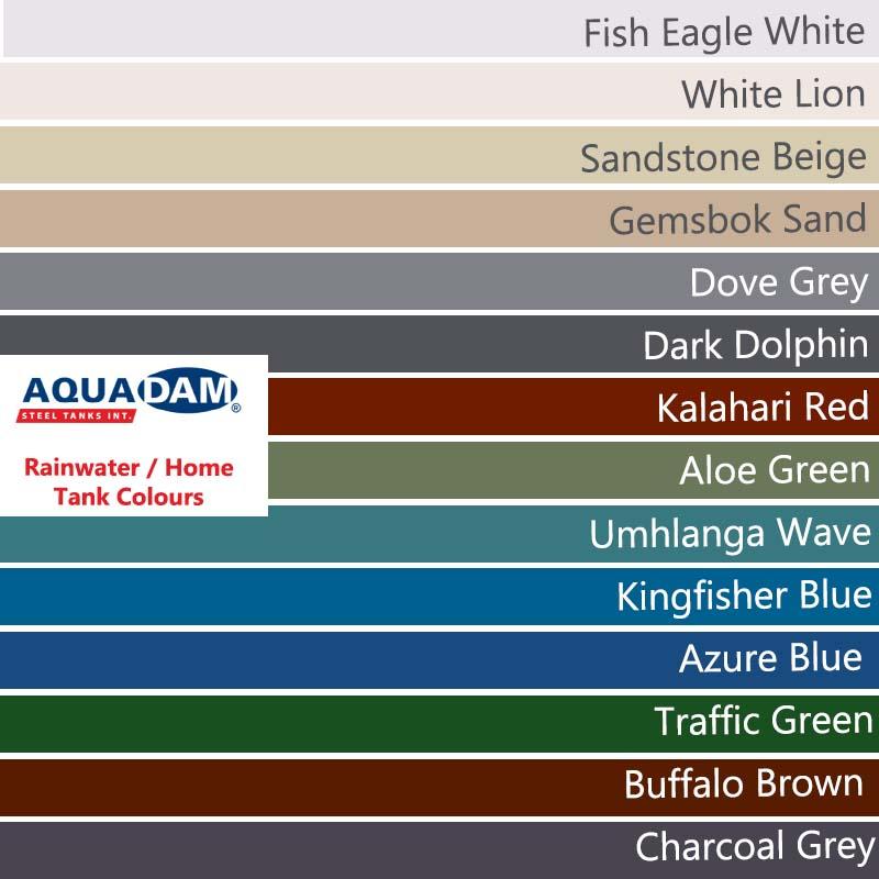 Rainwater Steel Tank Colours