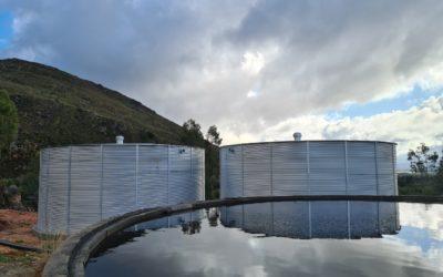 Elevated round zincalume corrugated Smart Tank Extreme