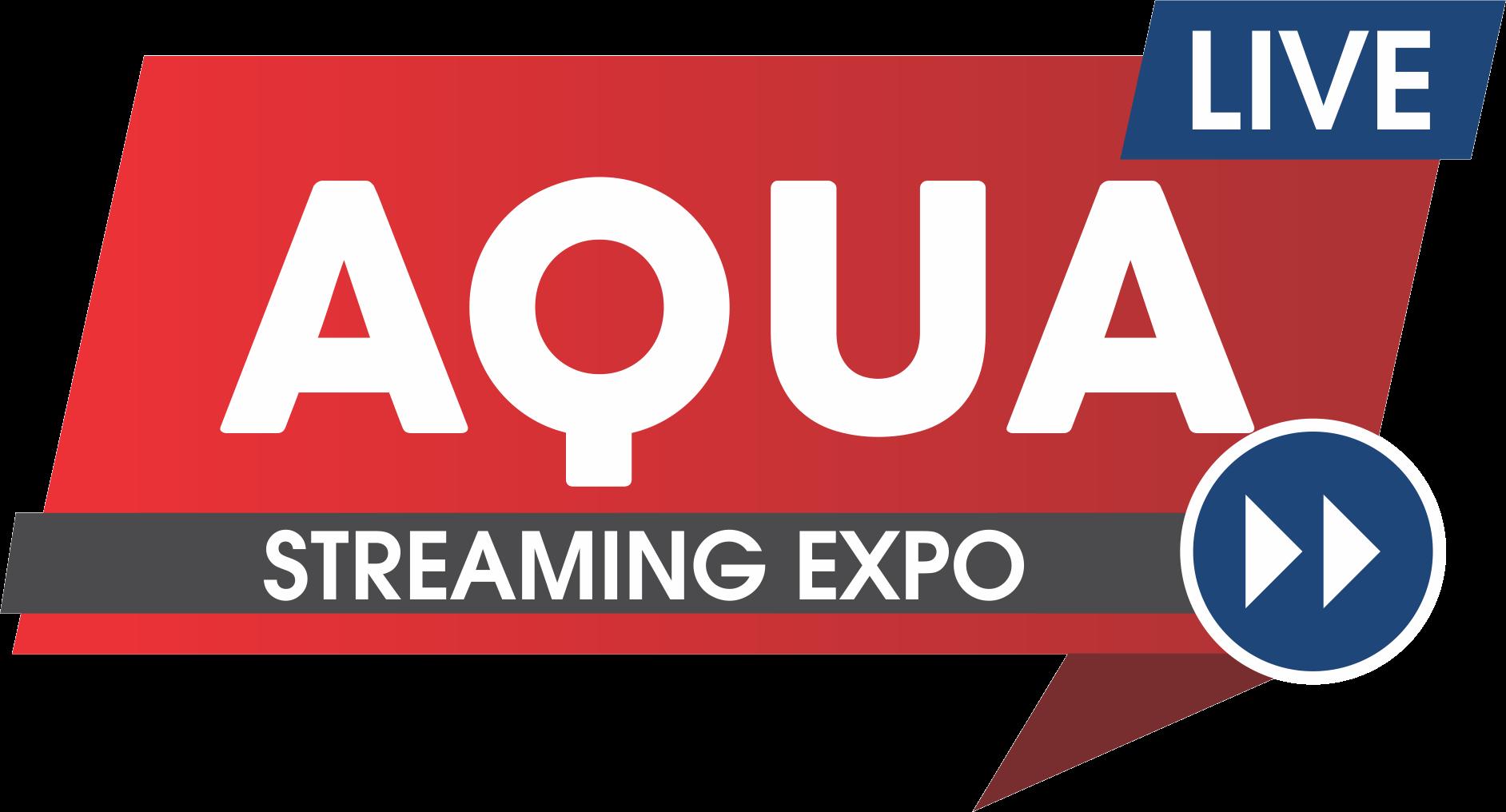 Aqua live streaming expo logo